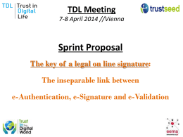 TRUSTSEED: Sprint Proposal