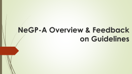 NeGP-A Overview & Feedback on - Department of Agriculture