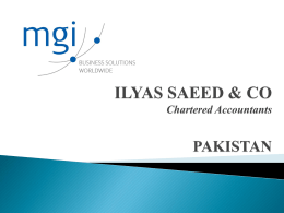 Ilyas Saeed & Company Chartered Accountants Pakistan