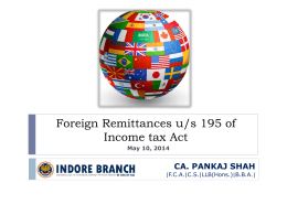 Foreign Remittances - 10 05 2014 - Indore
