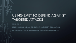Using EMET to prevent targeted attacks