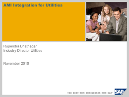 SAP AMI Integration for Utilities