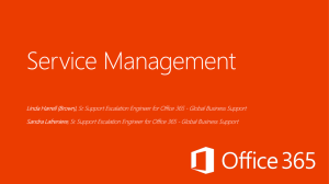 Ignite Webcast - Office 365 Service Management