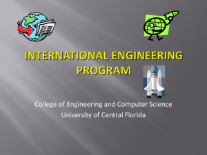 Experience Abroad - College of Engineering and Computer Science
