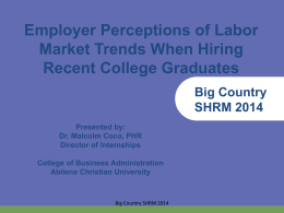 Big Country SHRM 2014