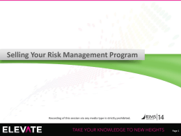 RIMS ppt - selling risk management program_final_no notes
