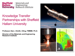 Professor Alan Smith - Sheffield Hallam University
