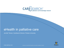 eHealth in palliative care (3.51MB ppt doc)