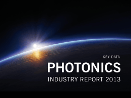 Photonics Industry Report 2013
