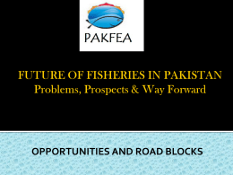 FUTURE OF FISHERIES IN PAKISTAN