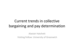 Current trends in collective bargaining and pay
