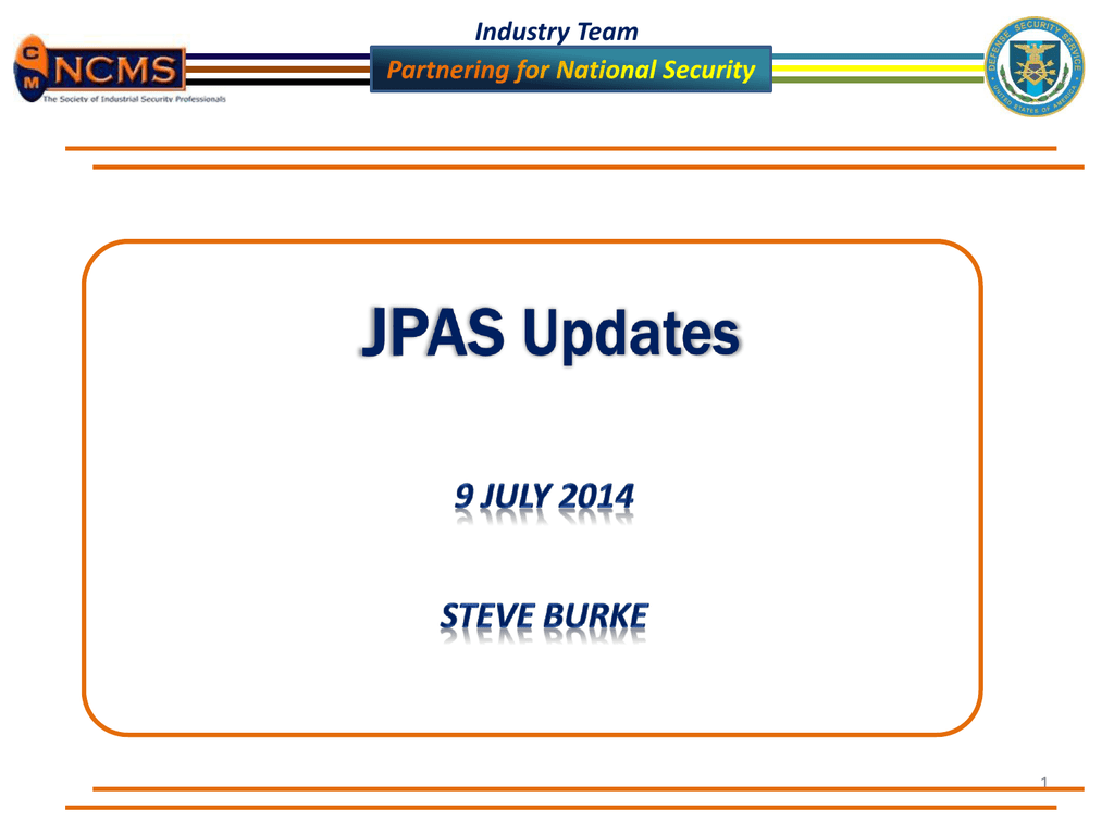 jpas overview and updates july 2014