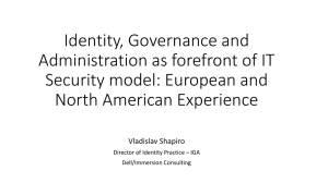Dell One Identity Manager - True Identity Governance Administration