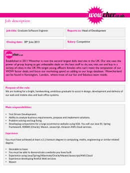 Graduate Developer - Wowcher | Daily Deals