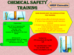 CHEMICAL SAFETY TRAINING - VTS | Consultants & Engineering