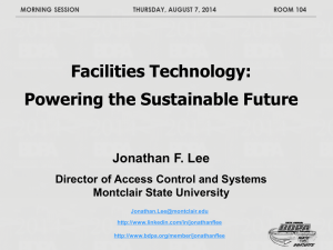 Facilities Technology - Powering the Future