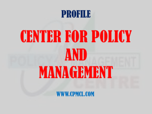 Results - Center for Policy and Management