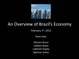 An Overview of Brazil`s Economy