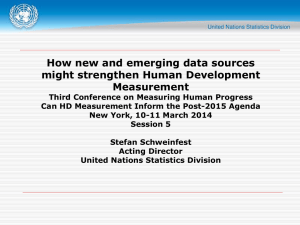 Stefan Schweinfest, Acting Director, United Nations Statistical Division