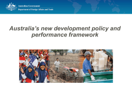 Making Performance Count - Australian Disability and Development