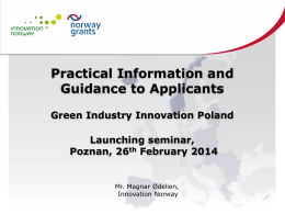 2 Power Point- Event Poland - Programme Area Green Industry