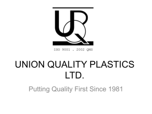 UNION QUALITY PLASTICS LTD.