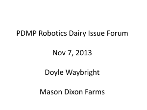 Doyle Waybrights Insights on Robotics from Mason Dixon Dairy