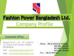 Company Profile - Fashion | Power