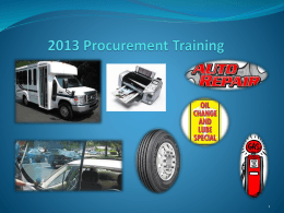 2013 Procurement Training Presentation