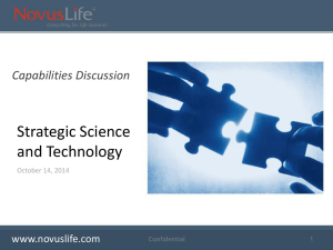 Strategic Science and Technologies Presentation