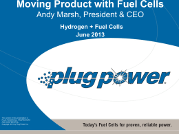 Moving Product with Fuel Cells