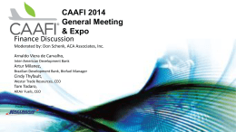 Outlook for US Airlines - 2014 CAAFI General Meeting