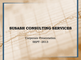 APPLICATION DEVELOPMENT - Susash Consulting Services