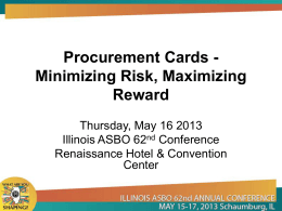 Procurement Cards - Electronic Resource Center