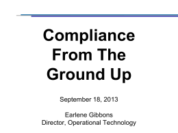 Compliance - The Blue Mountain Summit