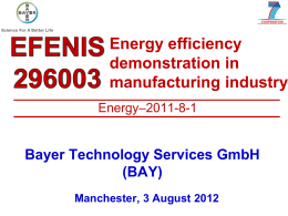 Bayer Technology Services - Intensified Heat Transfer Technologies