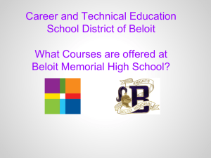 CTE Course Presentation - School District of Beloit
