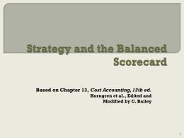 on the BalancedScorecard