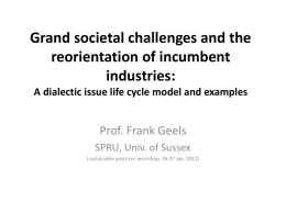 Grand societal challenges and the reorientation of incumbent