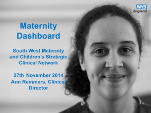 Maternity Dashboard