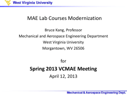 MAE Lab Committee - Mechanical and Aerospace Engineering