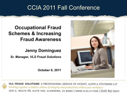 Occupational Fraud - Community College Internal Auditors