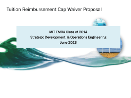 Example Proposal 1 - MIT Executive MBA Program