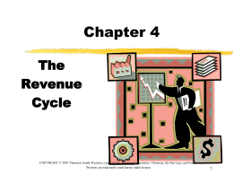 The Revenue Cycle - Accounting and Information Systems Department