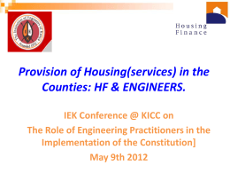 - The Institution of Engineers of Kenya