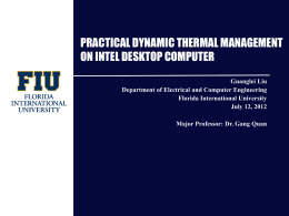 practical dynamic thermal management on intel desktop computer