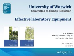 Warwick University Bringing heating related