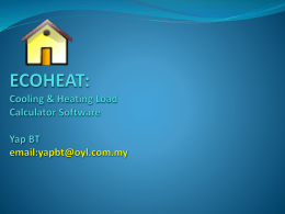 ECOHEAT training