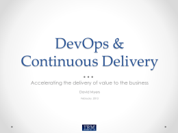DevOps and Continuous Delivery Keynote CMG