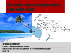 The health impacts of climate change in the South Pacific